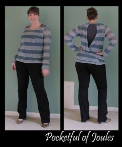 stripe sweater - both views - updated