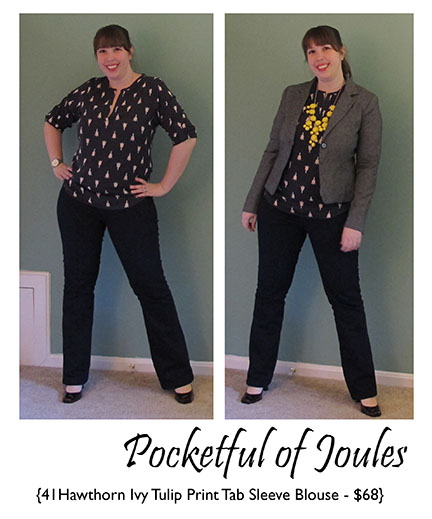 41Hawthorn Ivy Tulip Print Blouse - Joules