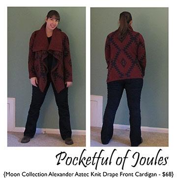 Alexander Aztec Knit Drape Front Cardigan - Joules