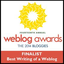 2014 Bloggies Finalist