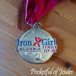 Iron Girl medal