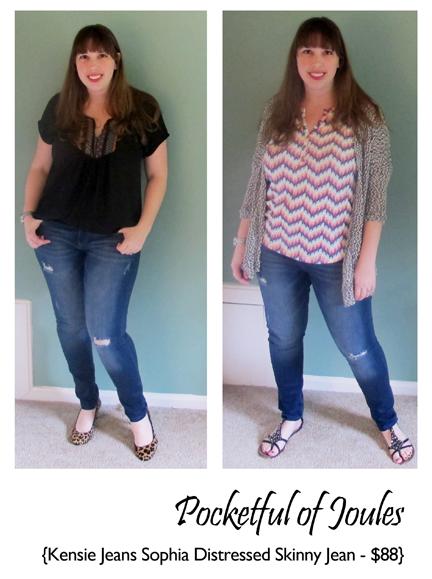Kensie Jeans Sophia Distressed Skinny Jean - Joules