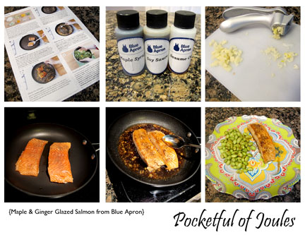 Blue Apron Salmon meal - Pocketful of Joules