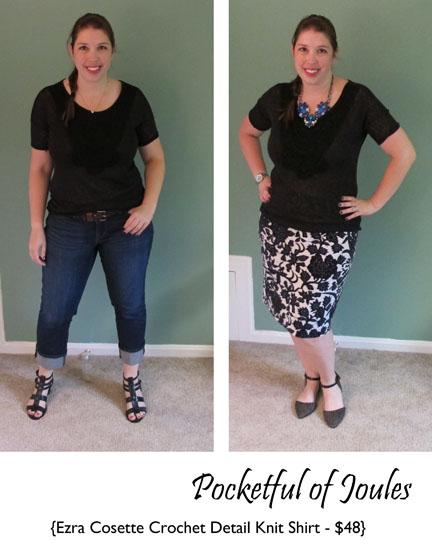 Ezra Cosette Crochet Detail Knit Shirt - Pocketful of Joules