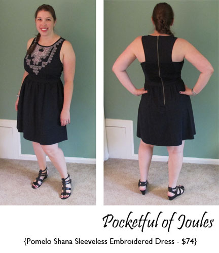 b0d9ece15f Pomelo Shana Sleeveles Embroidered Dress - Pocketful of Joules