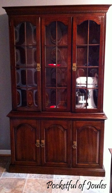 china cabinet - before