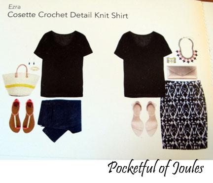 style card - eosette crochet detail shirt - Joules