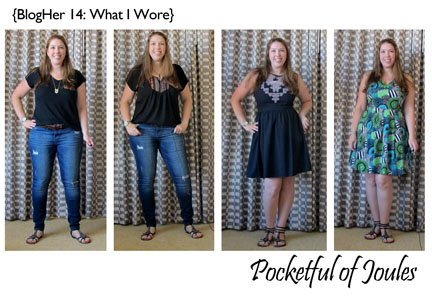BlogHer14 - what I wore - Pocketful of Joules