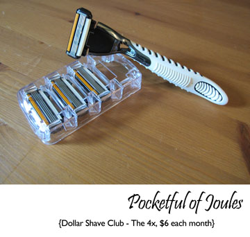 Dollar shave club - 4x razor - Pocketful of Joules