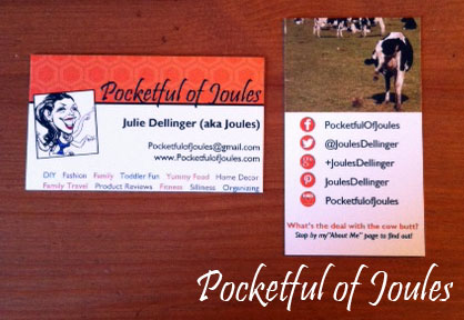 Pocketful of Joules biz cards