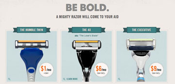 dollar shave club - razor choices