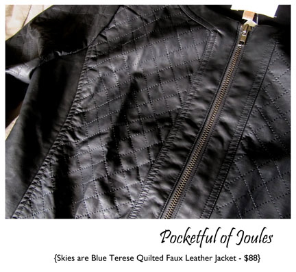 Skies are Blue Terese Quilted Faux Leather Jacket- Stitch Fix Review