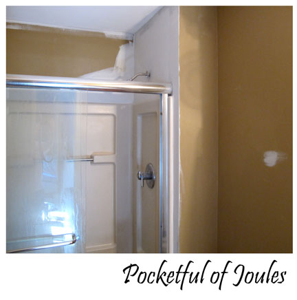 bathroom - sand and nail hole patch