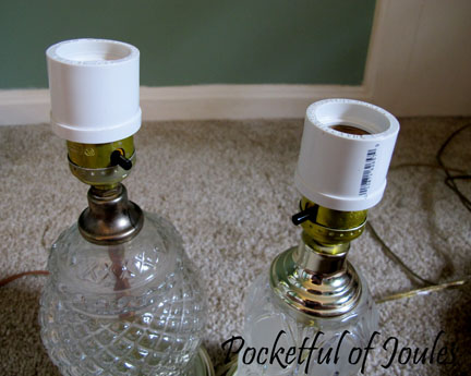 Making over 2 thrift store lamps pocketful of joules top hats aloadofball Image collections