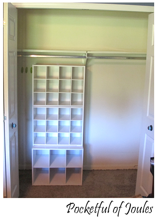 closet - stacked shoe organizers