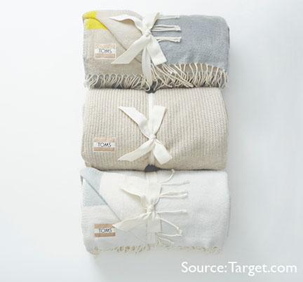 Toms for Target blankets