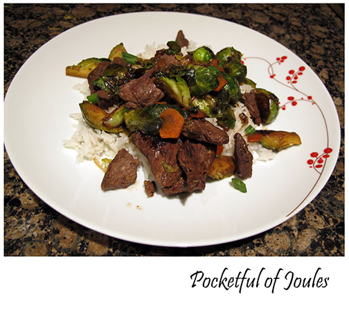 Hello Fresh review- steak and brussels sprouts stir-fry