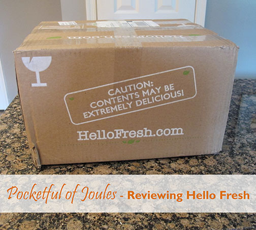 Pocketful of Joules - Reviewing Hello Fresh