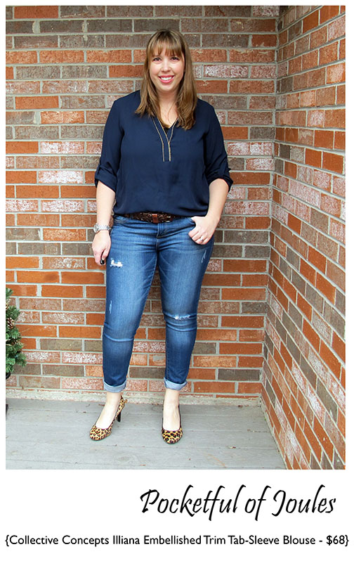 Stitch Fix Review - Collective Concepts Illiana Embellished Bouse - Pocketful of Joules