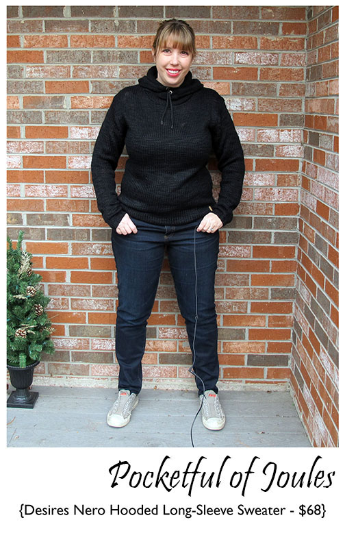 Stitch Fix Review - Desires Nero Hooded Sweater 2 - Pocketful of Joules