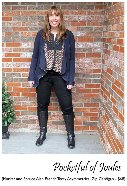 Stitch Fix Review - Market and Spruce Alan French Terry Asymmetrical Cardigan - Pocketful of Joules
