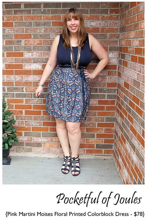 Stitch Fix Review - Pink Martini Moises Floral Printed Colorblock Dress 2- Pocketful of Joules