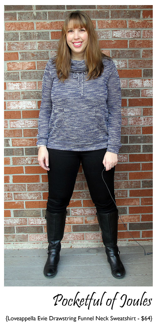 Loveappella Evie Drawstring Funnel Neck Sweatshirt 2 - Stitch Fix Review