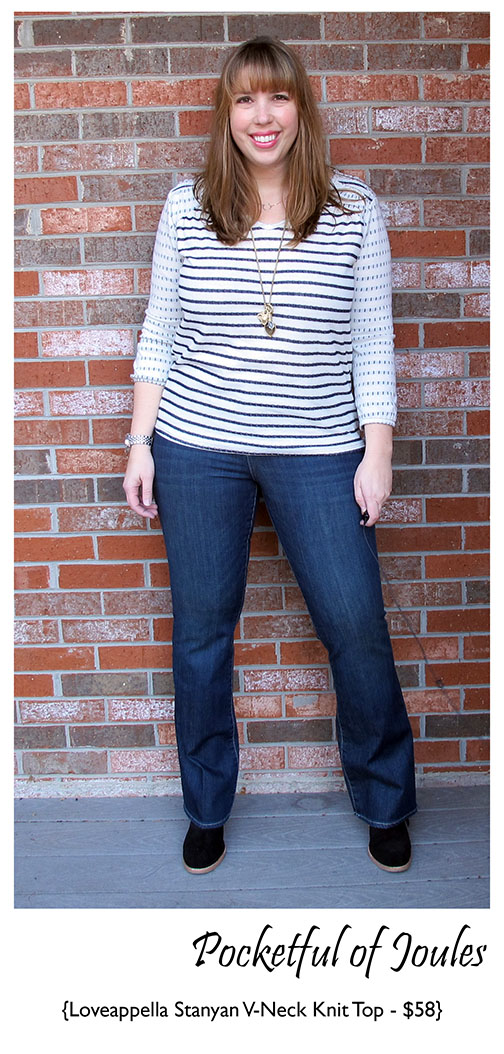 Loveappella Stanyan v-neck knit top 2 - Stitch Fix Review
