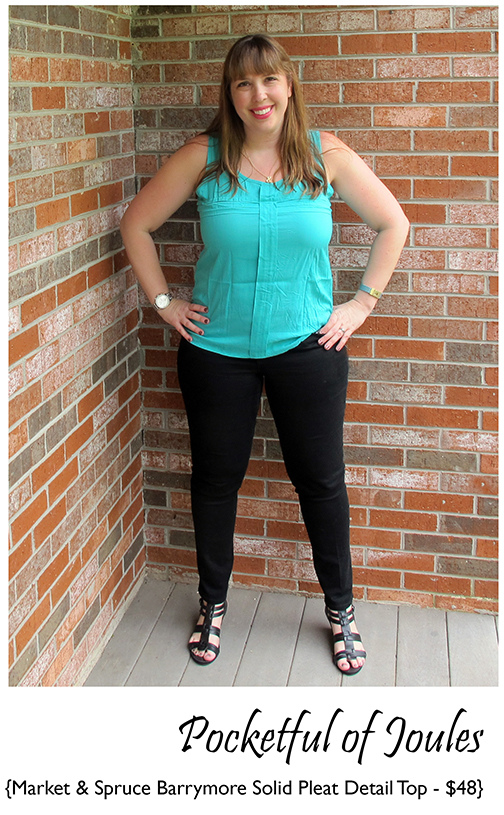 Stitch Fix Review - Market Spruce Barrymore Solid Pleat Detail Top - Joules
