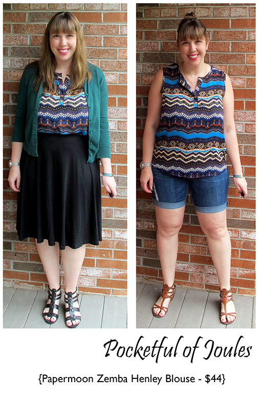 Stitch Fix Review - Papermoon Zemba Henley Blouse - Joules