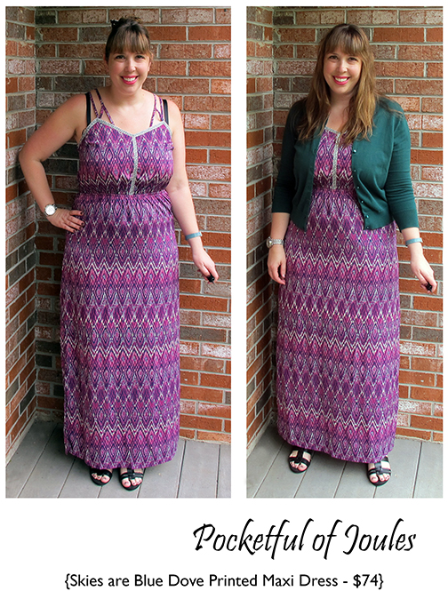 Stitch Fix Review - Skies are Blue Dove Printed Maxi Dress - Joules