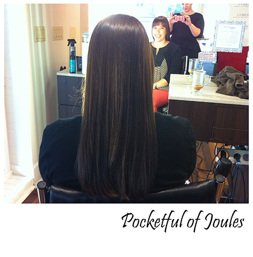 Red Door Olaplex treatment - after - Pocketful of Joules
