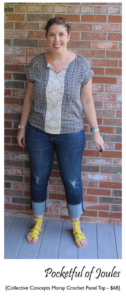 Stitch Fix Collective Concepts Moray Crochet Panel Top - Pocketful of Joules