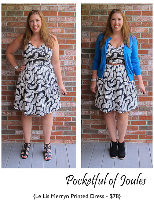 Stitch Fix Review - Le Lis Merryn Printed Dress - Pocketful of Joules