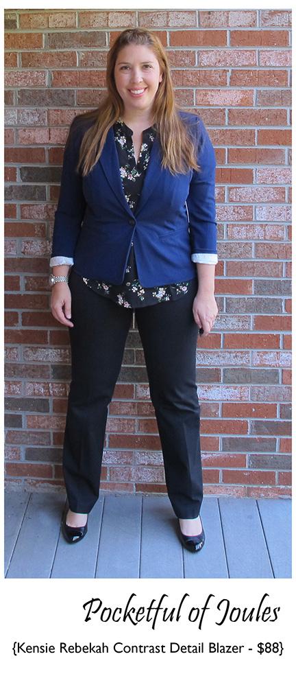Stitch Fix Review - Kensie Rebekah Contrast Detail Blazer - Pocketful of Joules