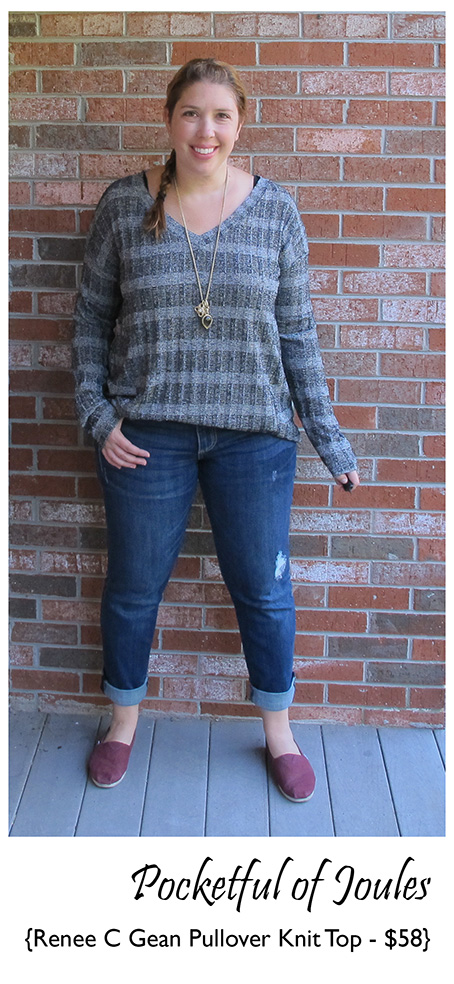 Stitch Fix Review - Renee C Gean Pullover Knit Top - Pocketful of Joules