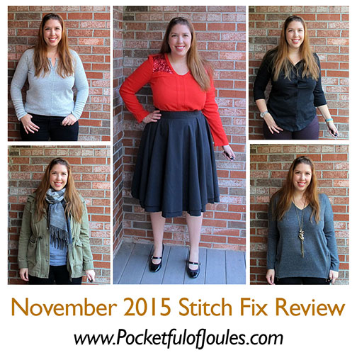 Stitch Fix Review - November 2015 - Pocketful of Joules