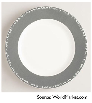 World Market larger plate