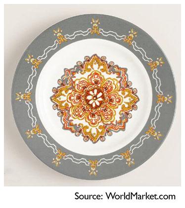 World Market salad plate