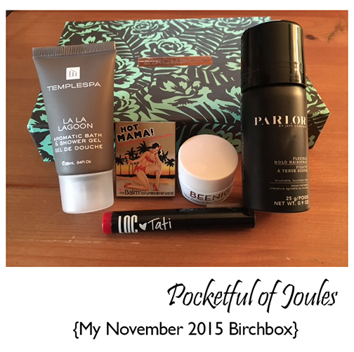 November 2015 Birchbox