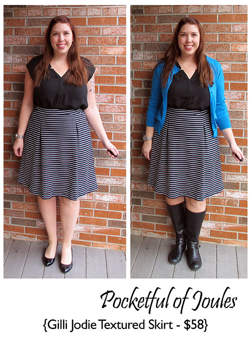 Stitch Fix Review - Gilli Jodie Textured Skirt - Pocketful of Joules
