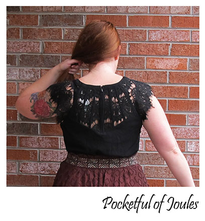 Stitch Fix Review - Brixon Ivy Jarred Lace Detail Cap-Sleeve Blouse - detail - Pocketful of Joules