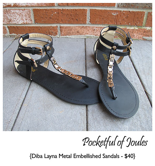 Stitch Fix Review - Diba Layna Metal Embellished Sandals - Pocketful of Joules