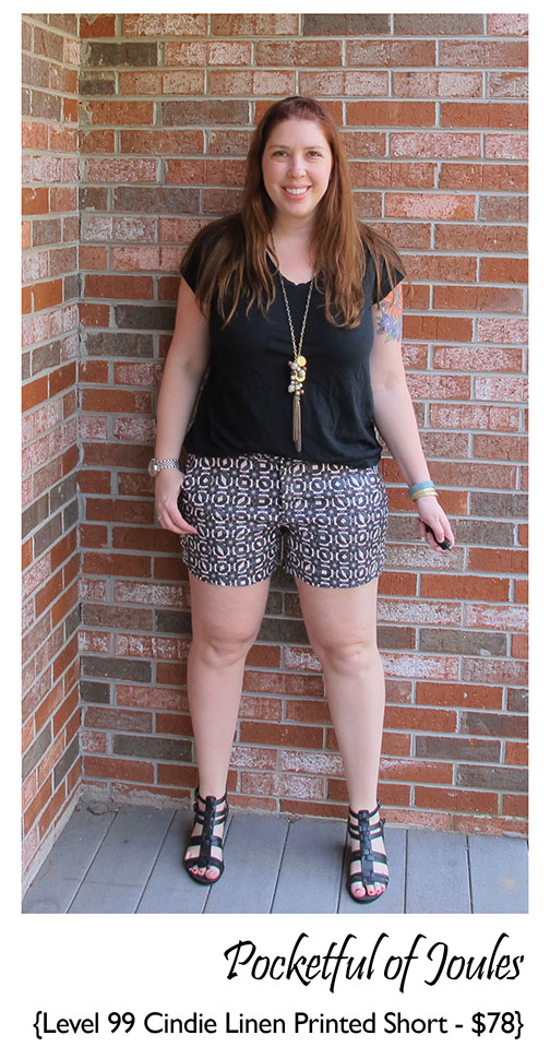 Stitch Fix Review - Level 99 Cindie Linen Printed Short - Pocketful of Joules