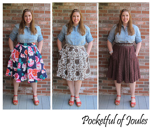 J crew top with three skirts - Pocketful of Joules