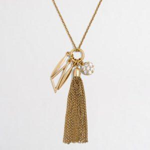 Jcrew tassle charm necklace