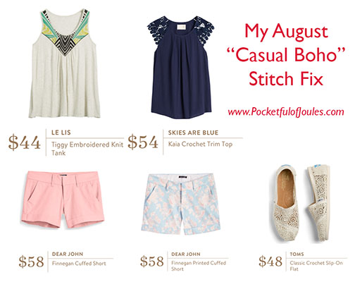 August Casual Boho Stitch Fix - Pocketful of Joules