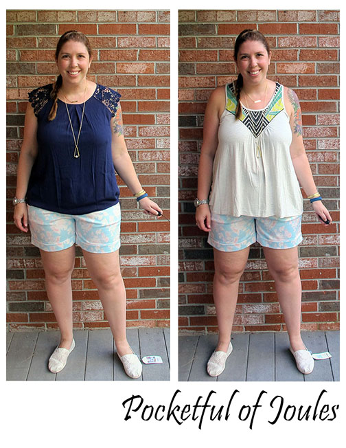 August Stitch Fix - Dear John floral shorts - Pocketful of Joules