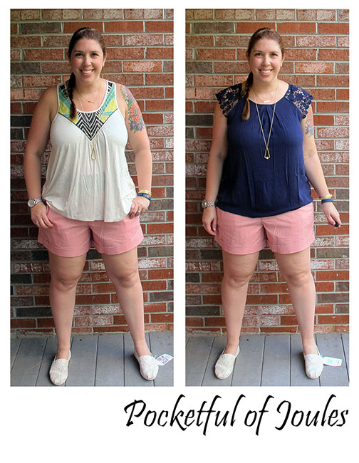 August Stitch Fix - Dear John pink shorts - Pocketful of Joules