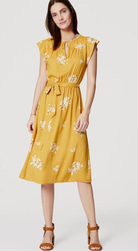 Loft yellow dress